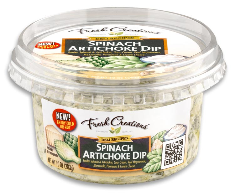 Lakeview Farms | Fresh Creations Spinach Artichoke Dip