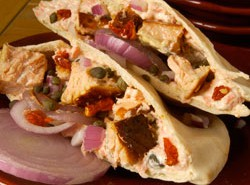 Savory Salmon Caper Pita