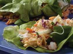 Seafood Cheese Lettuce Wraps