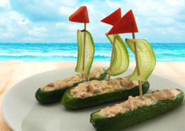 Cucumber-Seafood-Crab-Dip-Sailboats-Salads-of-the-Sea