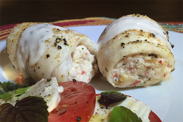 Lakeview farms crab stuffed fish rolls for Crab stuffed fish