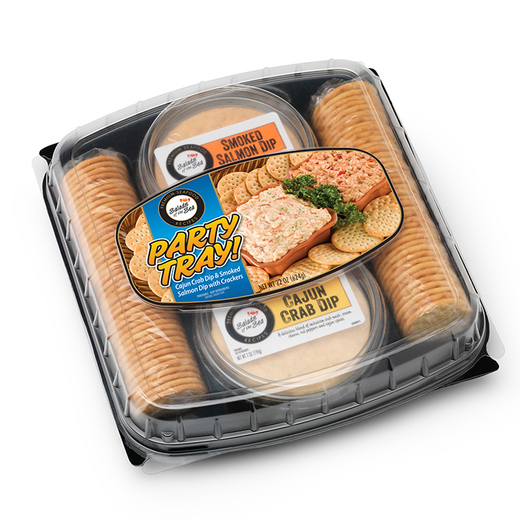 7242 Party Tray - SOT Smoked Salmon & Cajun Crab Dip
